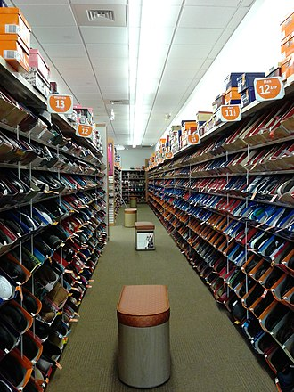Payless ShoeSource - Interior of a Payless ShoeSource in Groveton, Virginia
