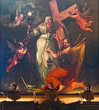 Francesco Fontebasso -  Allegory of Faith (v.1750)  San Zanipolo Venice