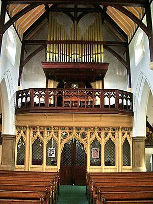 St John the Evangelist's Church, Kirkham - Former rood screen, by Pugin, now moved to the west end of the church