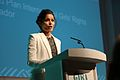 International actress and Plan International Girls' Rights Ambassador, Freida Pinto, speaking at Girl Summit 2014 (14722537604).jpg