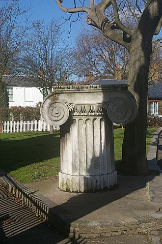 Robert Smirke (architect) - Surviving Ionic capital in Walthamstow by Smirke, all that remains of his former General Post Office Building in London