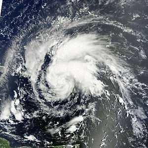 English: Tropical Storm Irene effecting parts ...