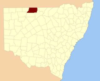Irrara County Cadastral in New South Wales, Australia
