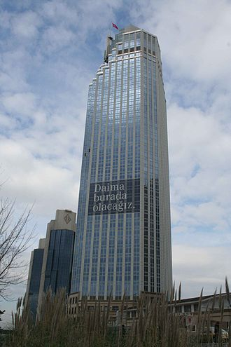Isbank Tower 1 - Isbank Tower 1, with the Sabancı Center towers in the background.
