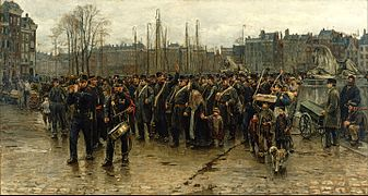 Isaac Israels - Transport of colonial soldiers - Google Art Project.jpg