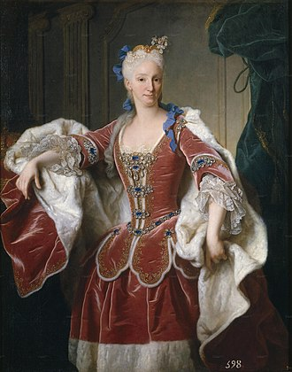Charles III of Spain - Portrait of Elisabeth Farnese.