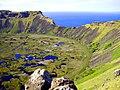 Isla de Pascua, Amanecer en la cumbre noroeste del volcán Rano Kau. - panoramio.jpg