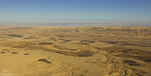 Makhtesh Ramon - The makhtesh is 40 km long, 2–10 km wide and 500 meters deep.
