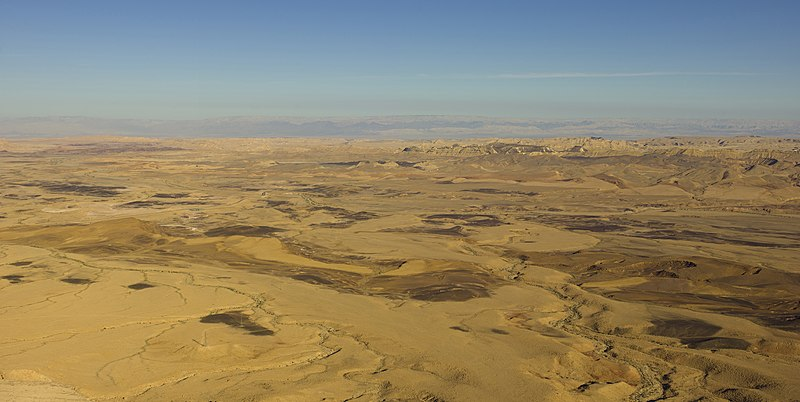File:Israel-2013-Aerial 00-Negev-Makhtesh Ramon.jpg