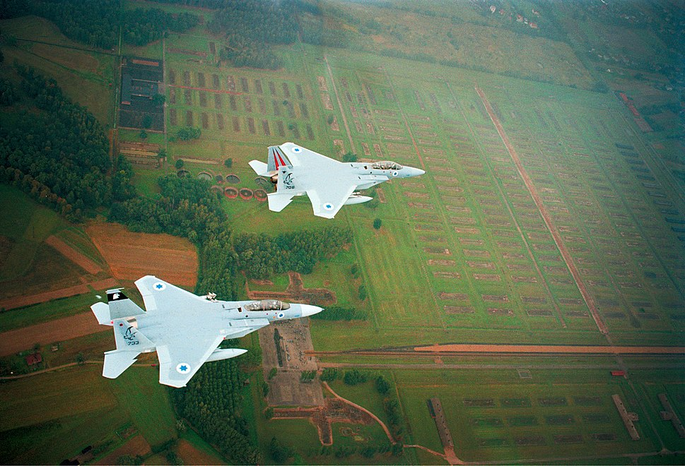 Israeli Air Force jets Fly-over Auschwitz concentration camp
