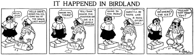 Cartoon -- early 20th century comic strip featuring anthropomorphic birds