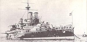Italian battleship Sardegna starboard bow view.jpg