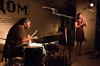 Hamid Drake - Drake performing with Iva Bittová in Moscow in January 2014