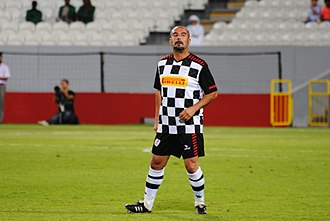 Ivan Capelli - Capelli playing for Nazionale Piloti during a charity football match In Abu Dhabi