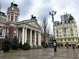 Ivan Vazov National Theatre in december.jpg