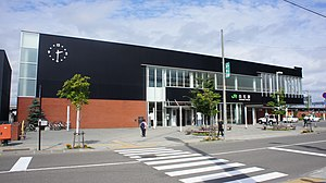 JR Hakodate-Main-Line・Chitose-Line Shiroishi Station building (South Exit).jpg