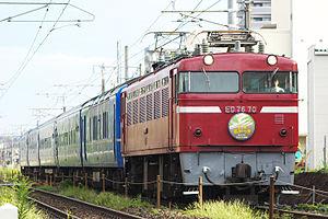 JNR Class ED76 - JR Kyushu ED76 70 on Naha sleeping car service in September 2006