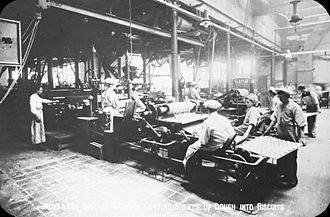 Jacob's - View of the production floor, Jacob's Ireland factory, 1910
