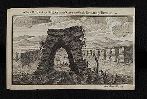Bullers of Buchan - Engraving of the Bullers of Buchan (sea prospect), 1755