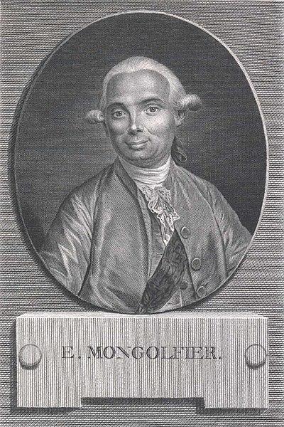 Jacques Etienne Montgolfier, uno de los hermanos Montgolfier.