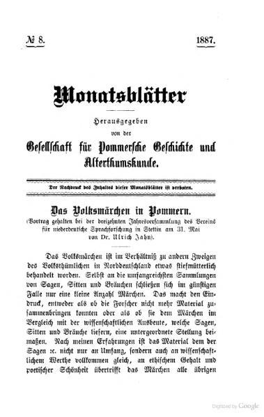 File:Jahn Das Volksmaerchen in Pommern.djvu
