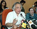 "Jairam Ramesh briefing the press at the launch of a Monitoring System for Tigers' - Intensive Protection and Ecological Status (""M-STrIPES""), in New Delhi on April 14, 2010.jpg"