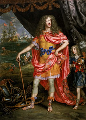 Tories (British political party) -  James, Duke of York painted in a Romanesque costume.