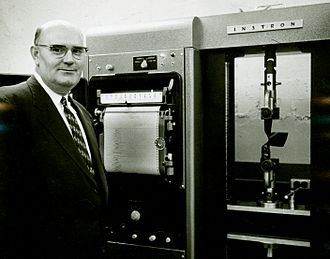 Instron - An Instron device at the Georgia Tech Research Institute in 1958.