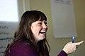 Jami Mathewson in Wiki Ed team meeting, 2015-01-14.jpg