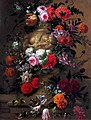 Jan Baptist Bosschaert - Flowers in a terracotta vase on a stone ledge.jpg