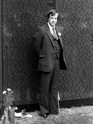 Jan Scruggs - Jan C. Scruggs at the Vietnam Veterans Memorial in 1982.