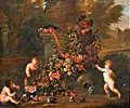 Jan Pauwel Gillemans (II) - Putti decorating a classical garden ornament with a rich festoon of fruit.jpg