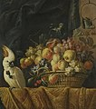 Jan Pauwel Gillemans (II) - Still life of figs, grapes, apples and other fruit on a table with a parrot.jpg