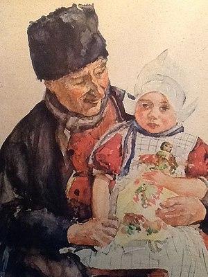 Jan Rinke - Grootvader met kleindochter.jpg