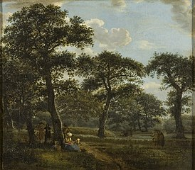 Figures Resting and Promenading in an Oak Forest