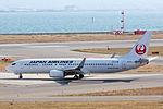 Japan Air Lines ,JL897 ,Boeing 737-846 ,JA315J ,Departed to Shanghai ,Kansai Airport (16624142809).jpg