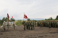 Japan Ground Self-Defense Force (JGSDF) Flag - Orient Shield 2017 Opening Ceremony