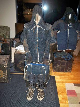 Kusari (Japanese mail armour) - Edo period Japanese (samurai) chain armour or kusari gusoku