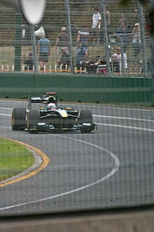 Photo de la Lotus T127 de Trulli à Melbourne
