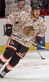 518b416b7ec The Blackhawks have donned Camouflage practice jerseys for Veterans Day to  show support for servicemen since 2009.