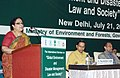 "Jayanthi Natarajan addressing at the curtain raiser function of the ""International Seminar on Disaster Management Law and Society"", in New Delhi on July 21, 2011.jpg"