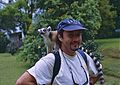 Jean NICOLAS and a Ring-tailed Lemur (Lemur catta) (9592682972).jpg