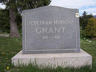 Jedediah M. Grant - Grave marker of Jedediah M. Grant.