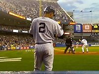 Jeter waiting on deck in the 2008 season opener against the Toronto Blue Jays on April 1, 2008