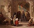 Jeune femme faisant la charité à l'entrée de la chapelle de l'hôpital San Sebastian à Cordoue, Léon Bonnat, Musée Goya.jpg