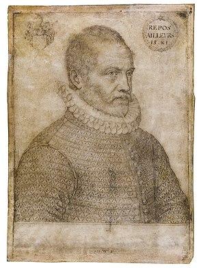 Johannes Wierix - Portrait of Philips van Marnix