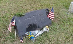 John P. O'Neill - O'Neill's gravestone at Holy Cross Cemetery, Mays Landing, NJ