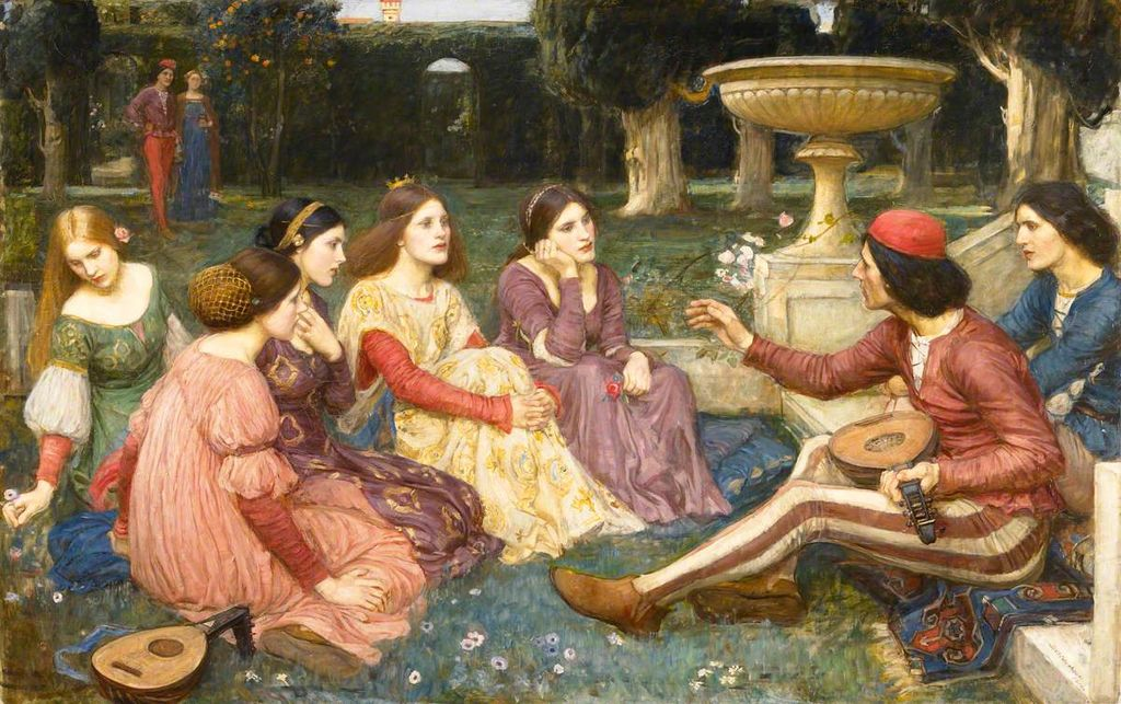 """""""A Tale from the Decameron"""" by John William Waterhouse"""