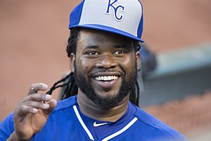 2015 World Series - Johnny Cueto was the winning pitcher in Game 2, pitching a complete game