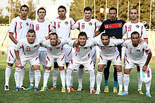 Jordan national football team in Tehran - 2015 AFC Asian Cup qualification.jpg